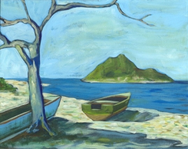 "Island #1. 2004. acrylic on canvas. 16"" x 20"""