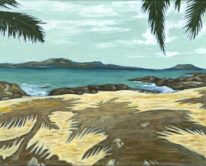 "SOLD - Island #3. 2004. acrylic on canvas. 16"" x 20"""