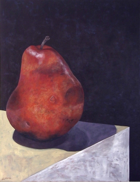 "Alone. 2004. acrylic on canvas. 36"" x 48"""