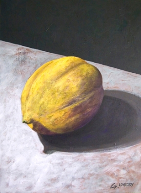 "SOLD - Lemon #1. 2004. acrylic on canvas. 16"" x 20"""