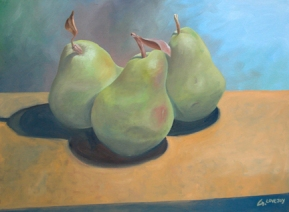"SOLD - One More Than a Pear. 2004. oil on canvas. 16"" x 20"""