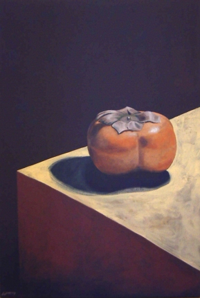 "SOLD - Persimmon. 2004. oil on canvas. 24"" x 36"""